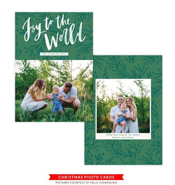 Christmas Photocard Template | Christmas Miracles
