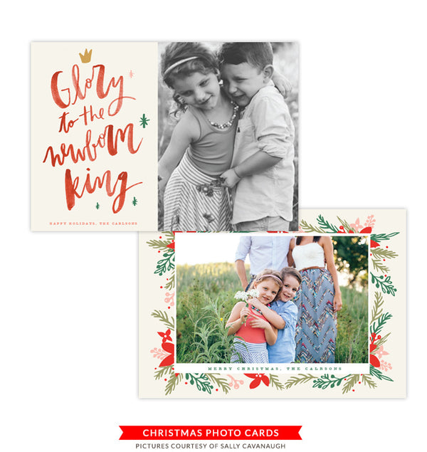 Christmas Photocard Template | Glory