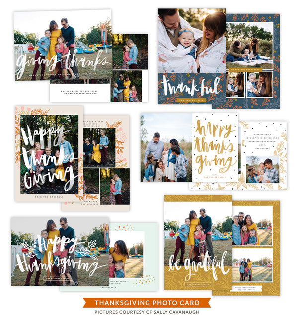 Thanksgiving Photocards Bundle | Loving Feast