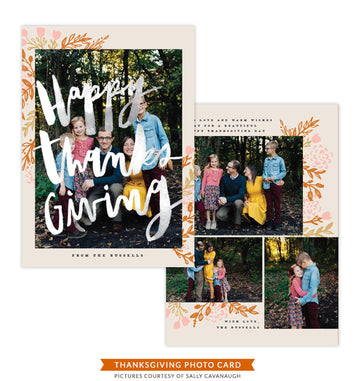 Thanksgiving Photocard Template | Celebration of Kindness