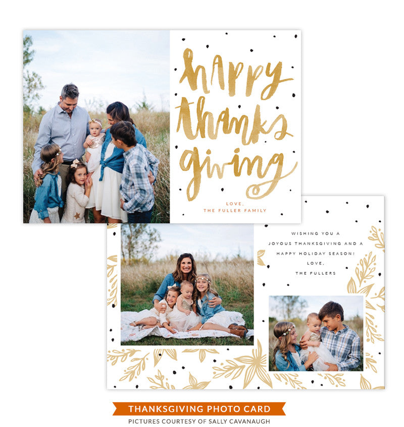 Thanksgiving Photocard Template | Thanksgiving Laughter