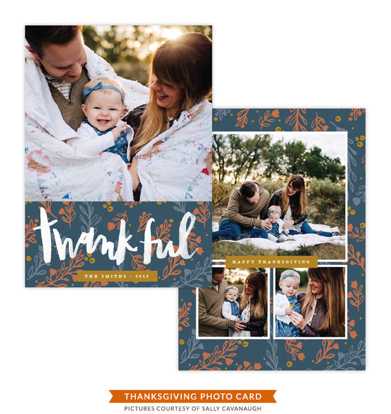 Thanksgiving Photocard Template | In Gratitude