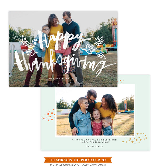 Thanksgiving Photocard Template | Best Celebration