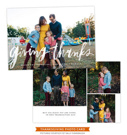 Thanksgiving Photocard Template | Abundant Heart