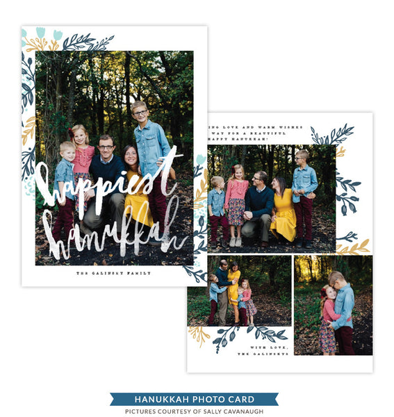 Hanukkah Photocard Template | Sheltering Light