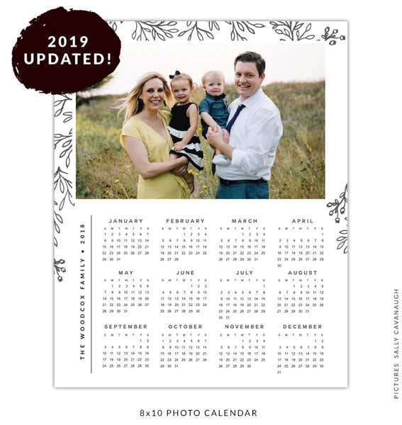 8x10 2019 calendar template | In the woods