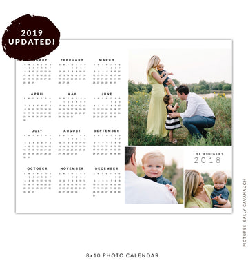 8x10 2019 calendar template | Siblings