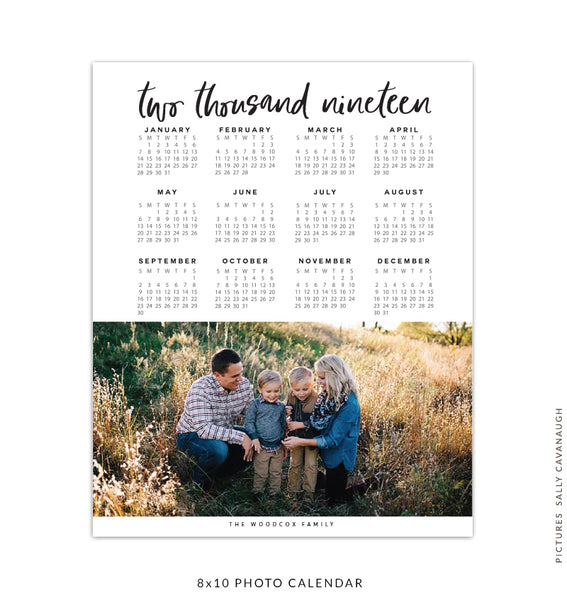8x10 2017 calendar template | Two thousand