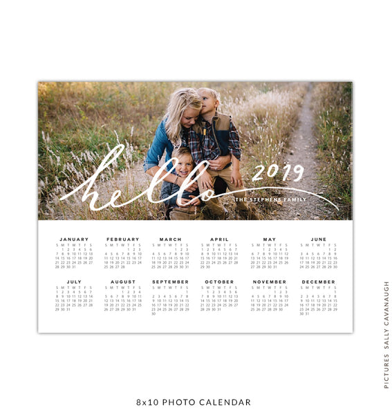 8x10 2017 calendar template | Hello year