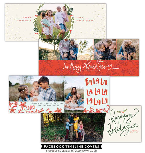 Facebook timeline covers bundle | Holiday FB greetings