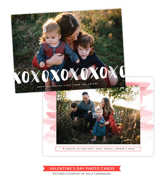 Valentine Photocard Template | Warmth and Joy