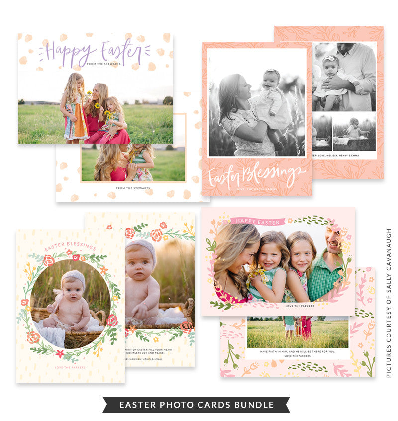 Easter Photo Cards bundle | Easter Festival