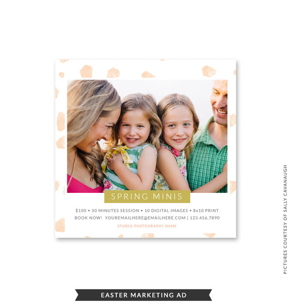 5x5 Easter Marketing Ad | Easter Joy Minis