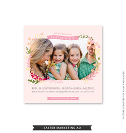 5x5 Easter Marketing Ad | Easter Leaves Minis