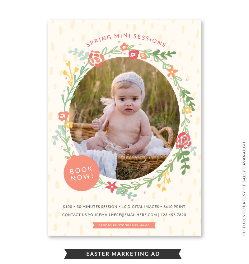 5x7 Easter Marketing Ad | Easter Blessings Minis