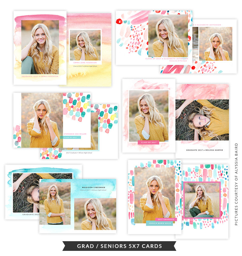 Grad Announcement Card Bundle | Festival