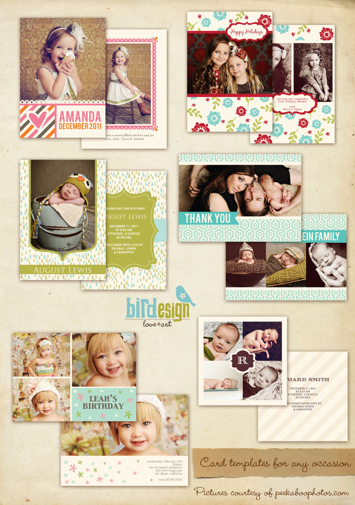 Greeting Photocards Bundle | Sweet & Cute