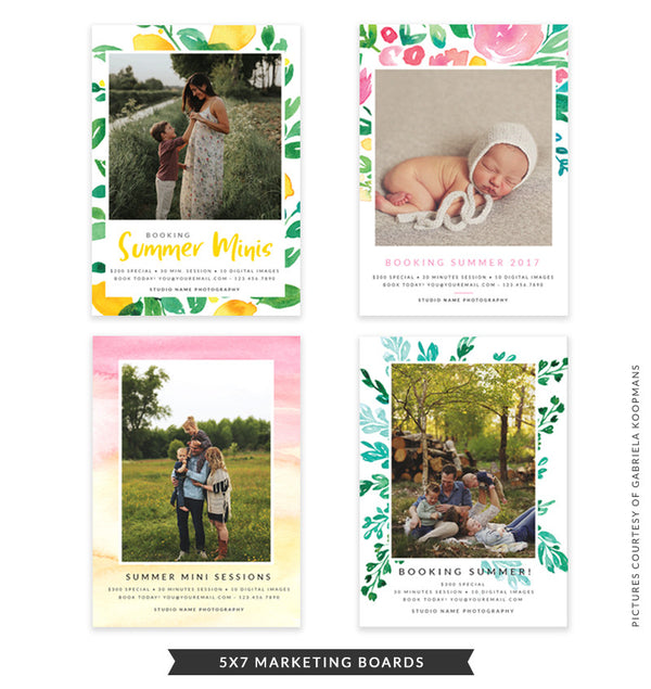Summer Marketing Boards Bundle | Summer Whisper