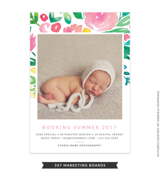 5x7 Summer Marketing Board | Floral Thoughts