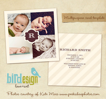 Birth Announcement | Chocolate