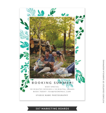 5x7 Summer Marketing Board | Green Brush