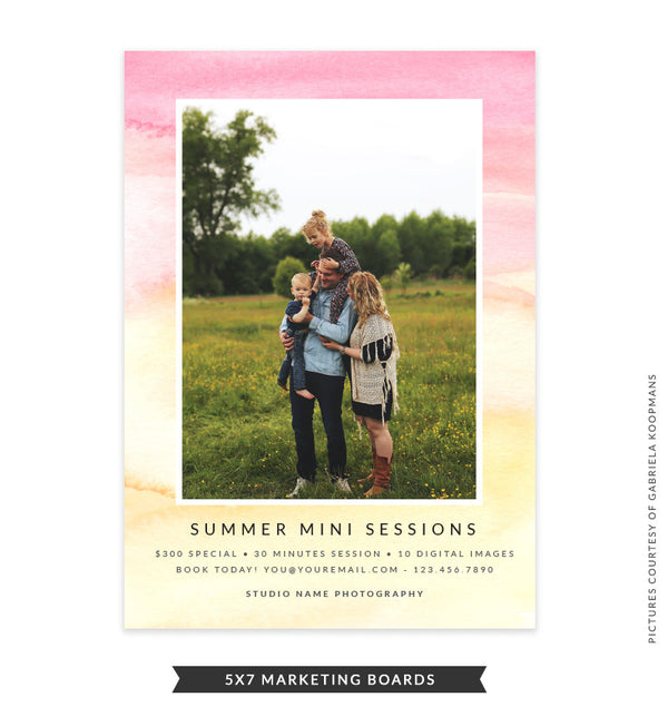 5x7 Summer Marketing Board | Brush of Sunlight