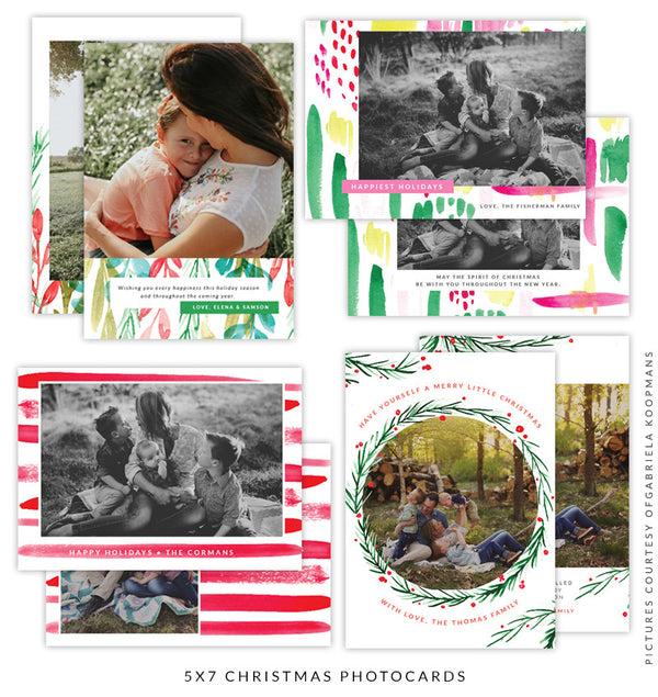 Christmas 5x7 Photo Card Bundle | Gift of Love