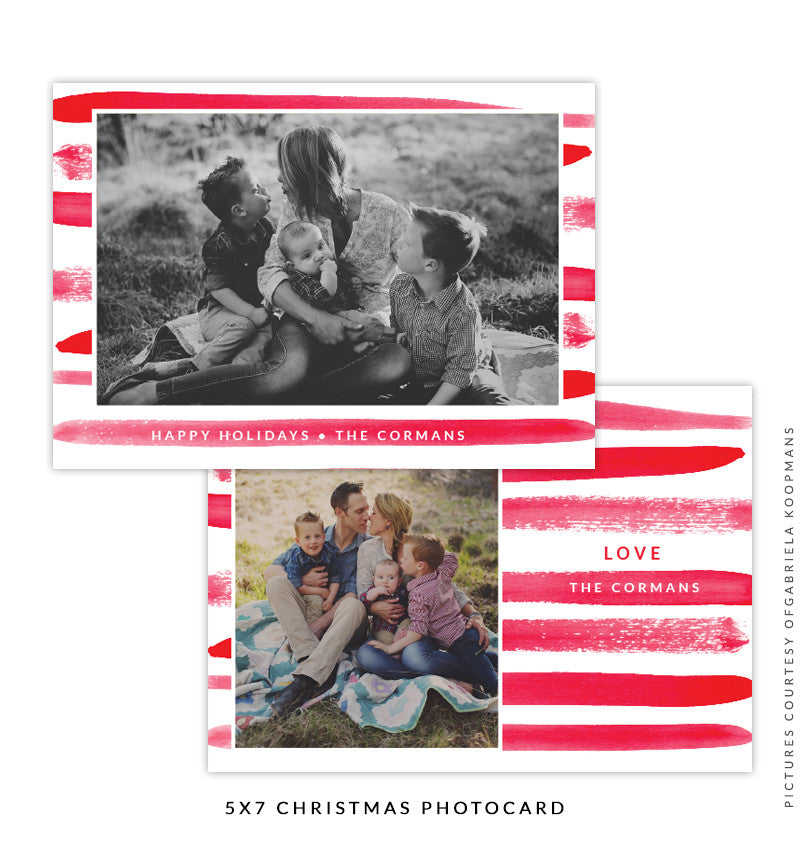 Christmas 5x7 Photo Card | Holiday Brush