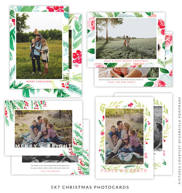 Christmas 5x7 Photo Card Bundle | Branches for Peace