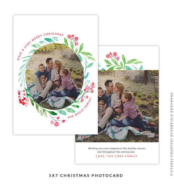 Christmas 5x7 Photo Card | Wonderful Time