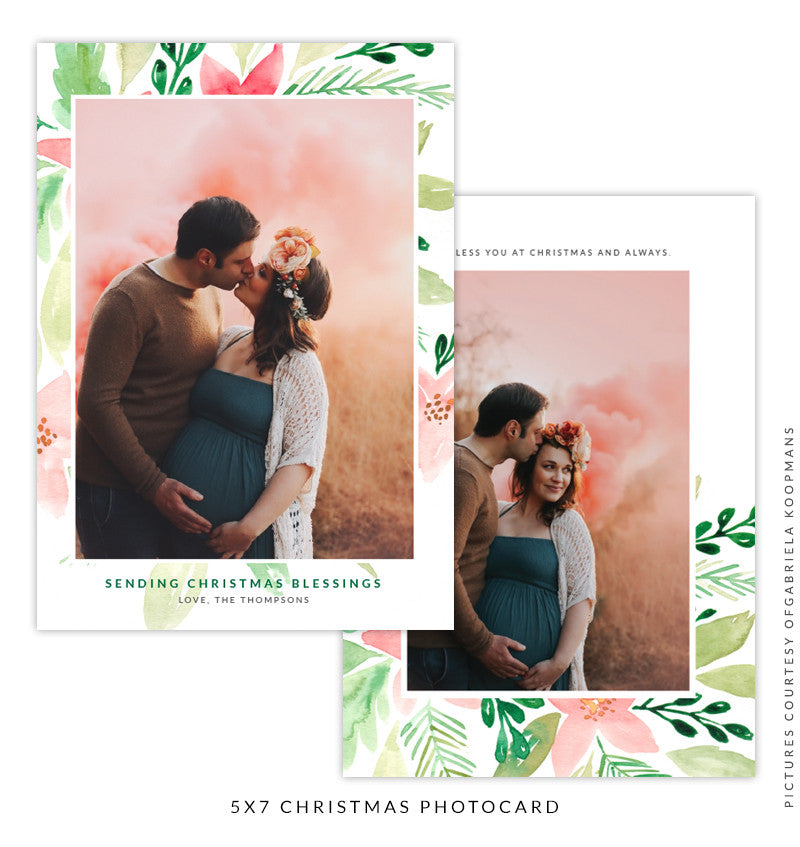 Christmas 5x7 Photo Card | Birth of Love
