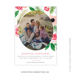 Christmas Marketing Ad | Floral Happiness