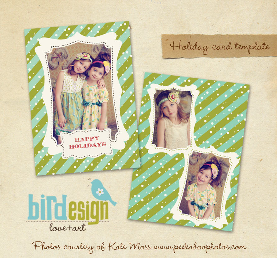 Holiday Photocard Template | Sweet Snow