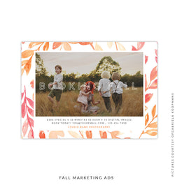 Fall Marketing Ad | Autumn Leaves