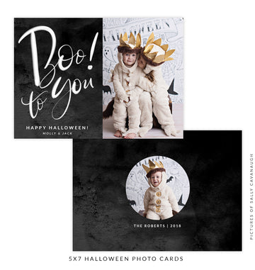 Halloween Photocard Template | Boo to You