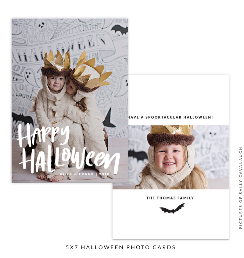 Halloween Photocard Template | Happy Halloween