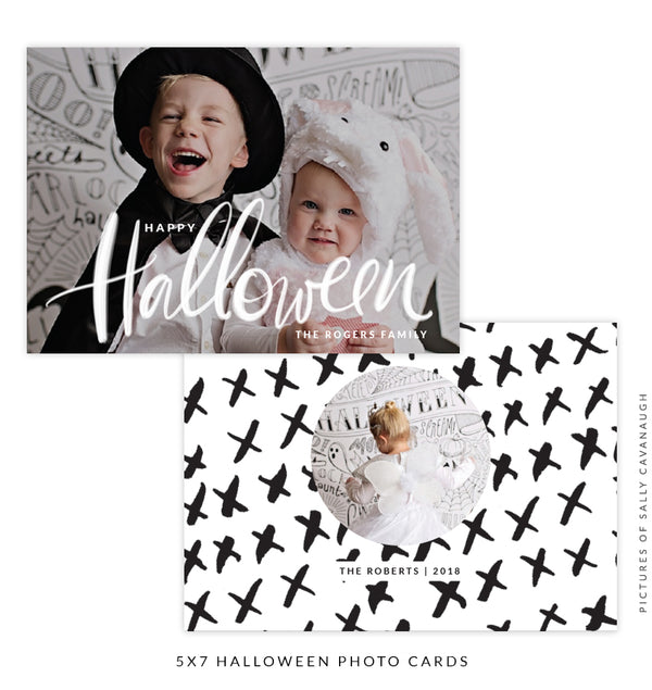 Halloween Photocard Template | Spooky Party