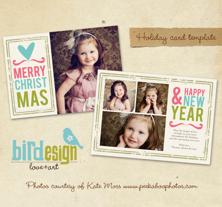 Holiday Photocard Template | Heart Greetings