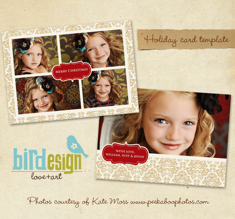 Holiday Photocard | Gold Garden 5x7