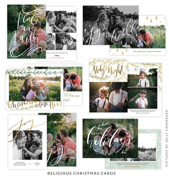 Christmas 5x7 Photo Card Bundle | Lights and Bells