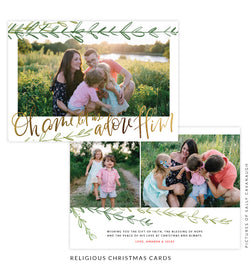 Christmas 5x7 Photo Card | Under the Tree