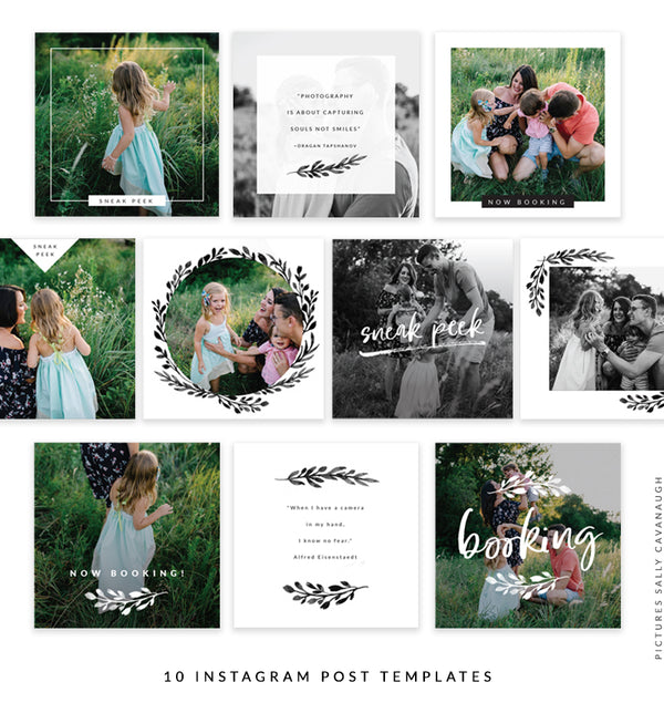 Instagram Square templates | Love growing II