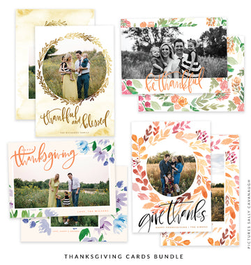 Thanksgiving Photocard Templates Bundle | Gracefulness