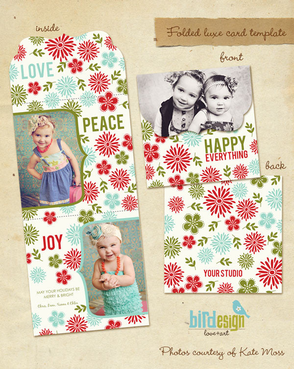 Holiday Ornate Photocard  | Happy Garden