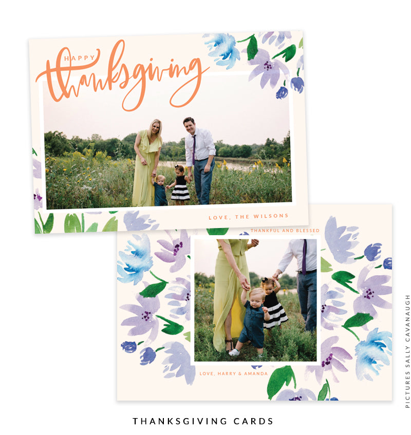 Thanksgiving Photocard Template | Lavender Wishes