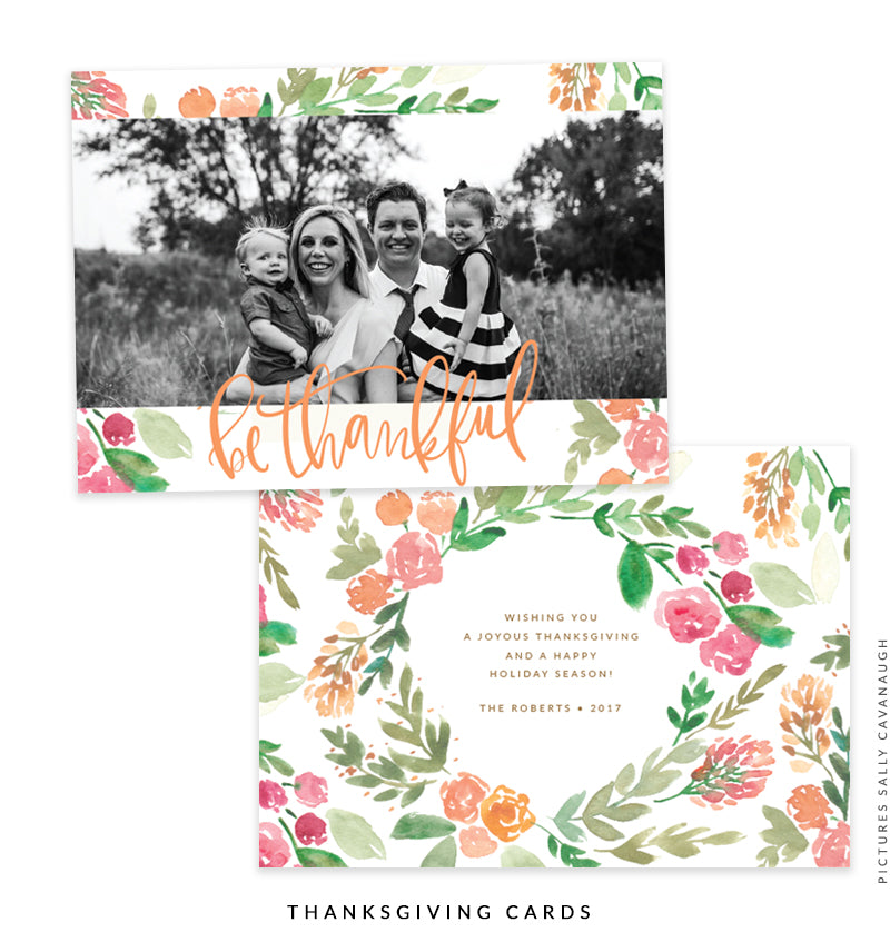 Thanksgiving Photocard Template | Thank You Iris