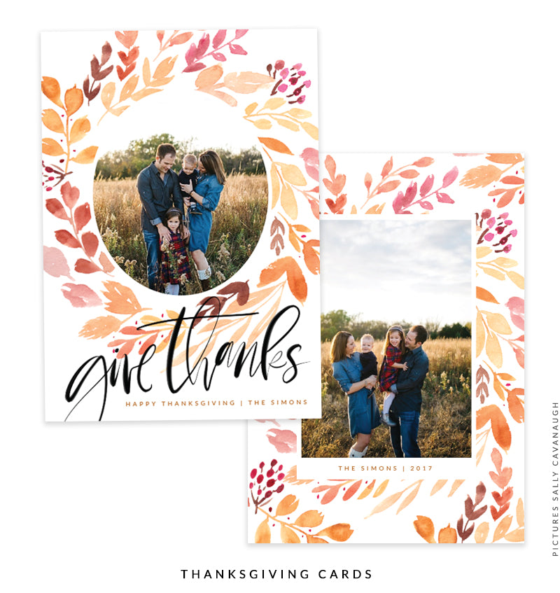 Thanksgiving Photocard Template | Splendid Grace