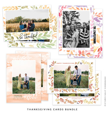 Thanksgiving Photocard Templates Bundle | Unfading Beauty