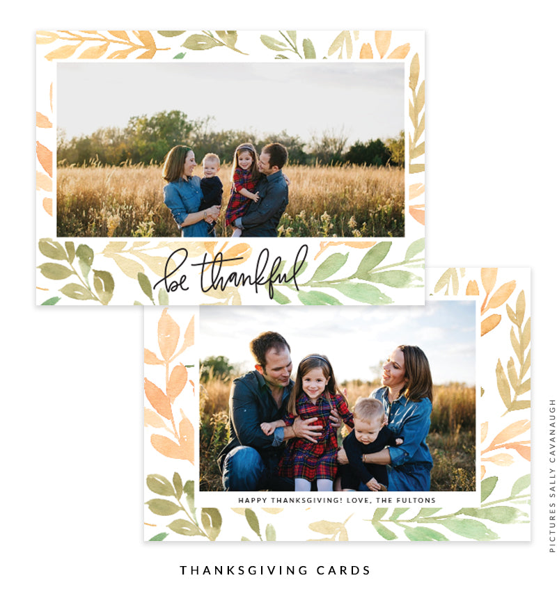 Thanksgiving Photocard Template | Everlasting Joy