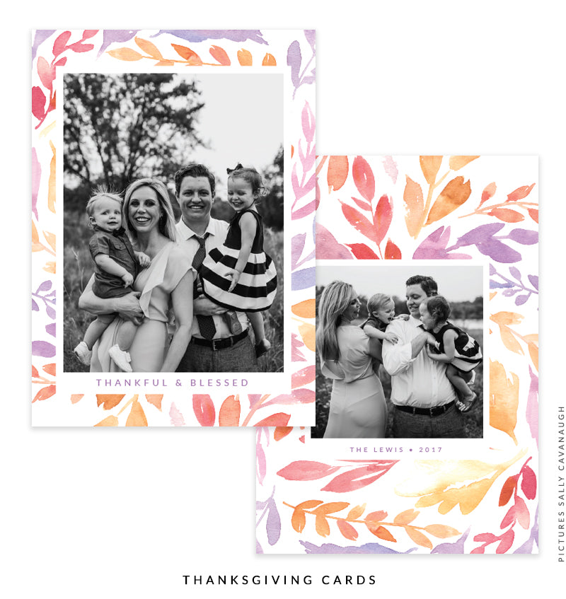 Thanksgiving Photocard Template | Thoughts of Happiness